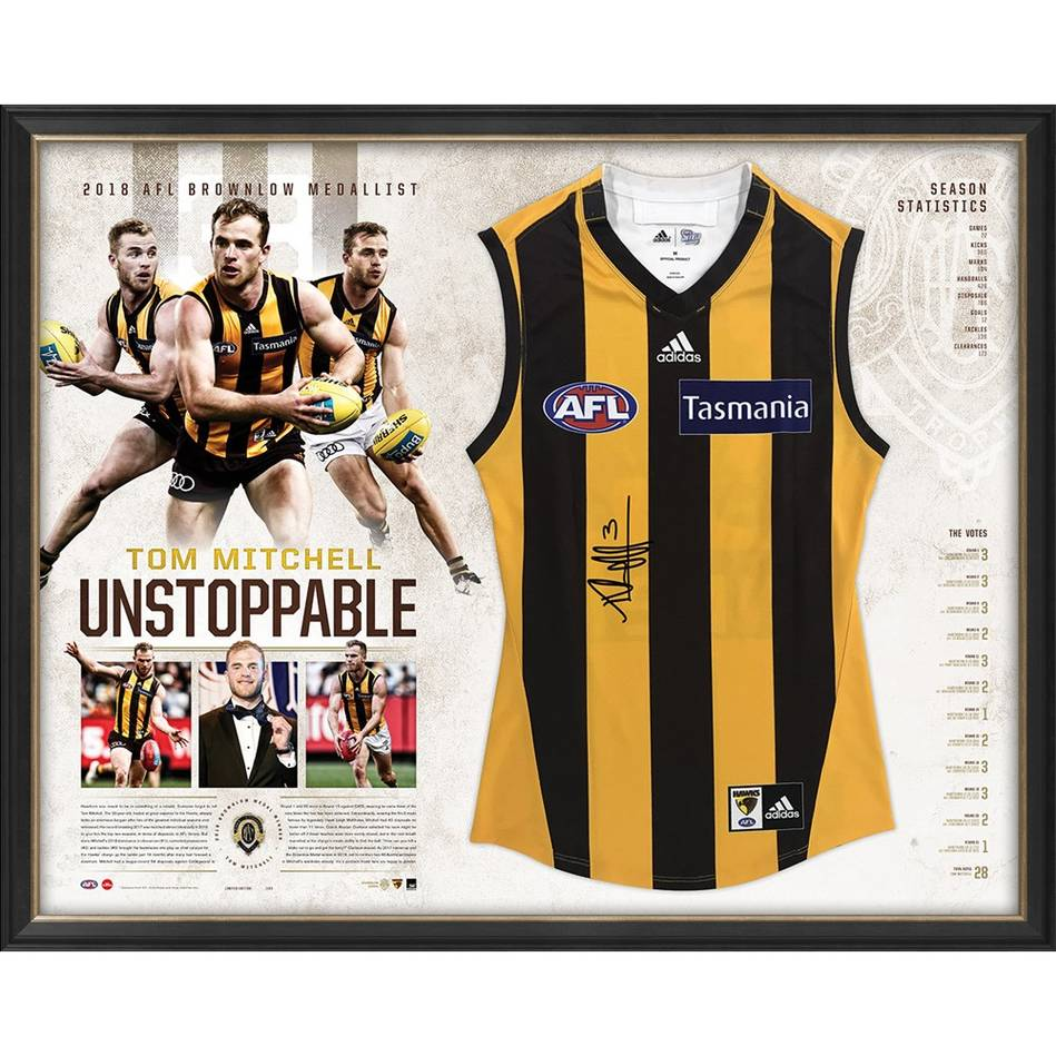 mainEDITION #3 - Tom Mitchell Signed 2019 Brownlow Medal Guernsey0