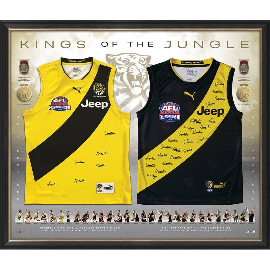 mainEDITION #1 - Richmond 2017 & 2019 Premiers Signed Dual Jumper Display0