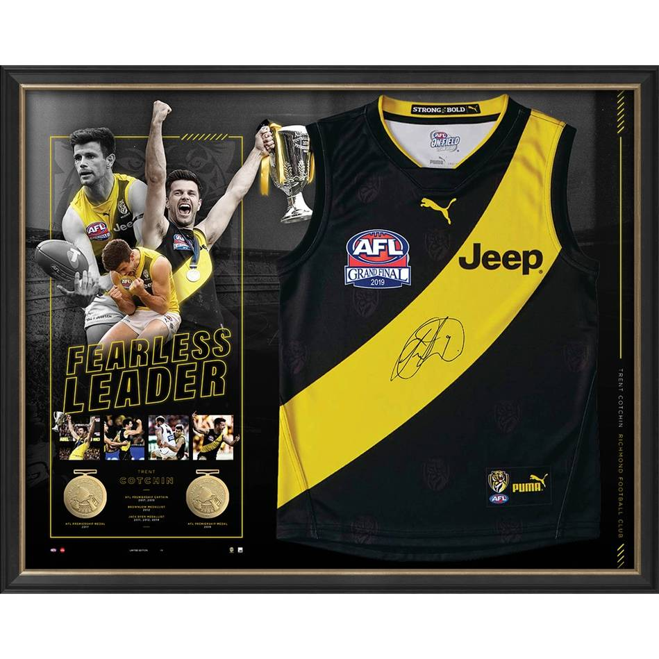mainEDITION #1 – Trent Cotchin Dual-Premiership Captain Signed Guernsey0