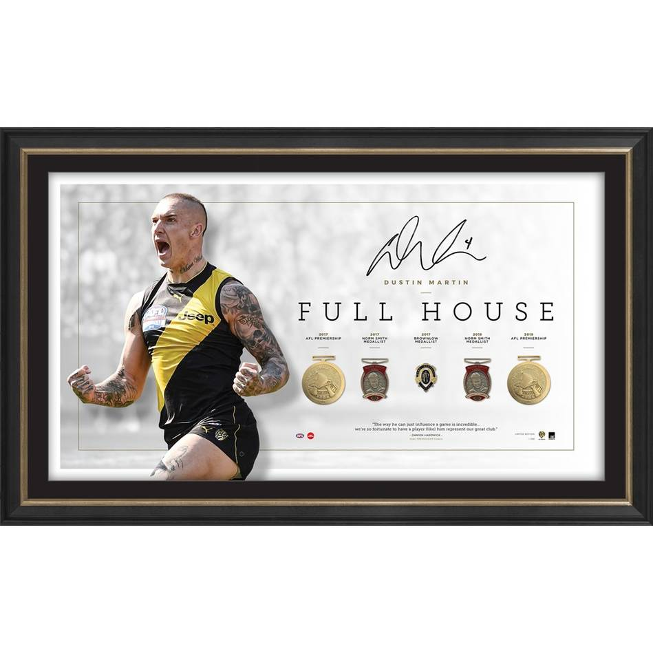 mainEDITION #1 – Dustin Martin Signed Full House Lithograph0