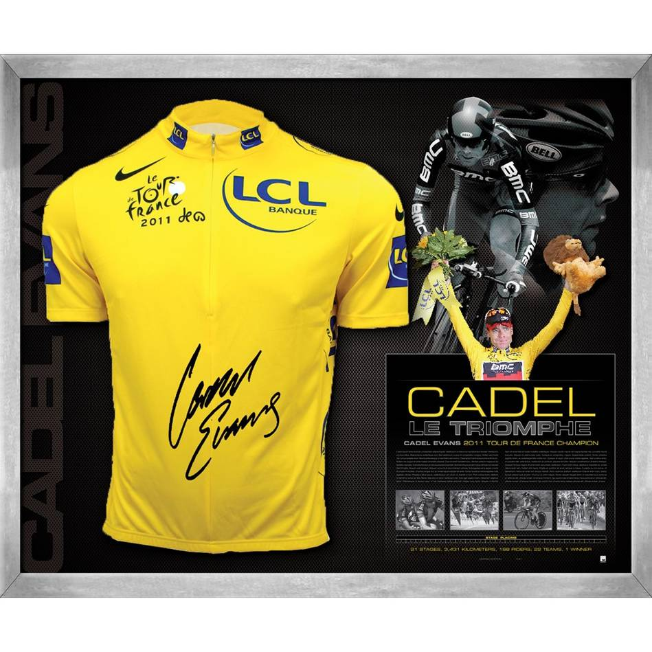 mainEDITION #1 – Cadel Evans Signed Yellow Jersey Display0