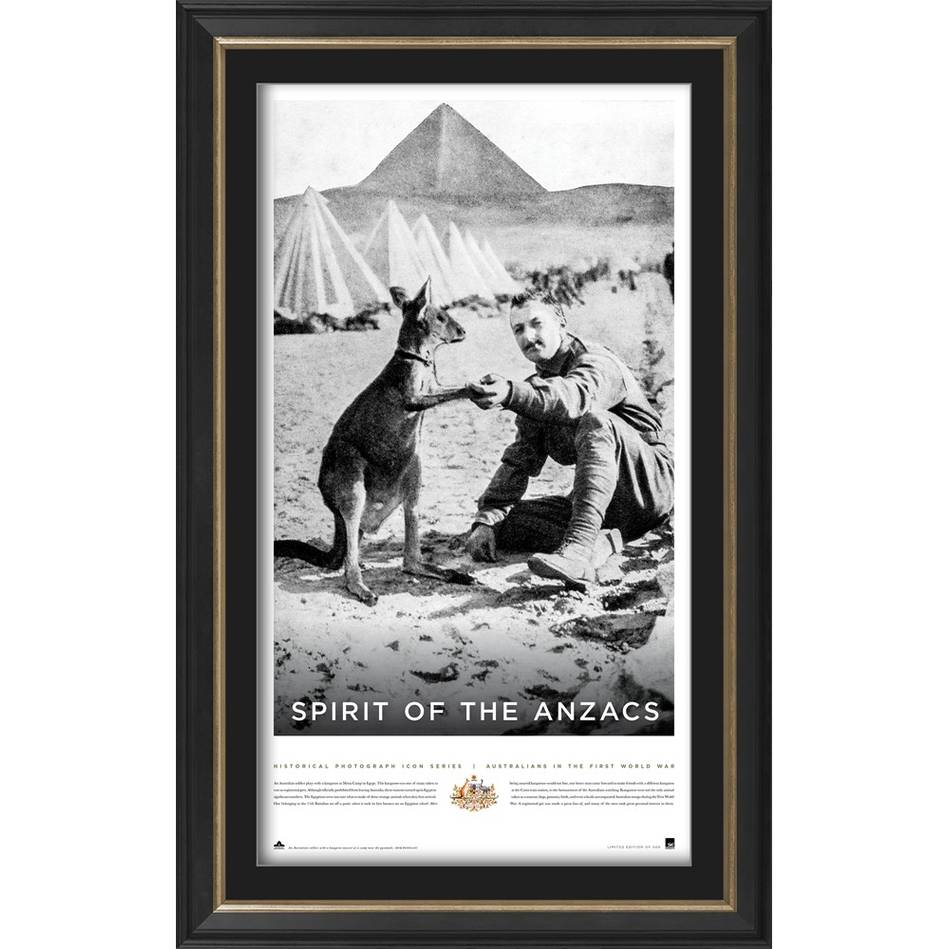 main'Spirit of the ANZACS' Framed Print0