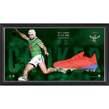 Jarrod Croker Signed Match-Worn Boot Display