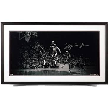 Michael Jordan Signed 'We Have Liftoff' Framed Print