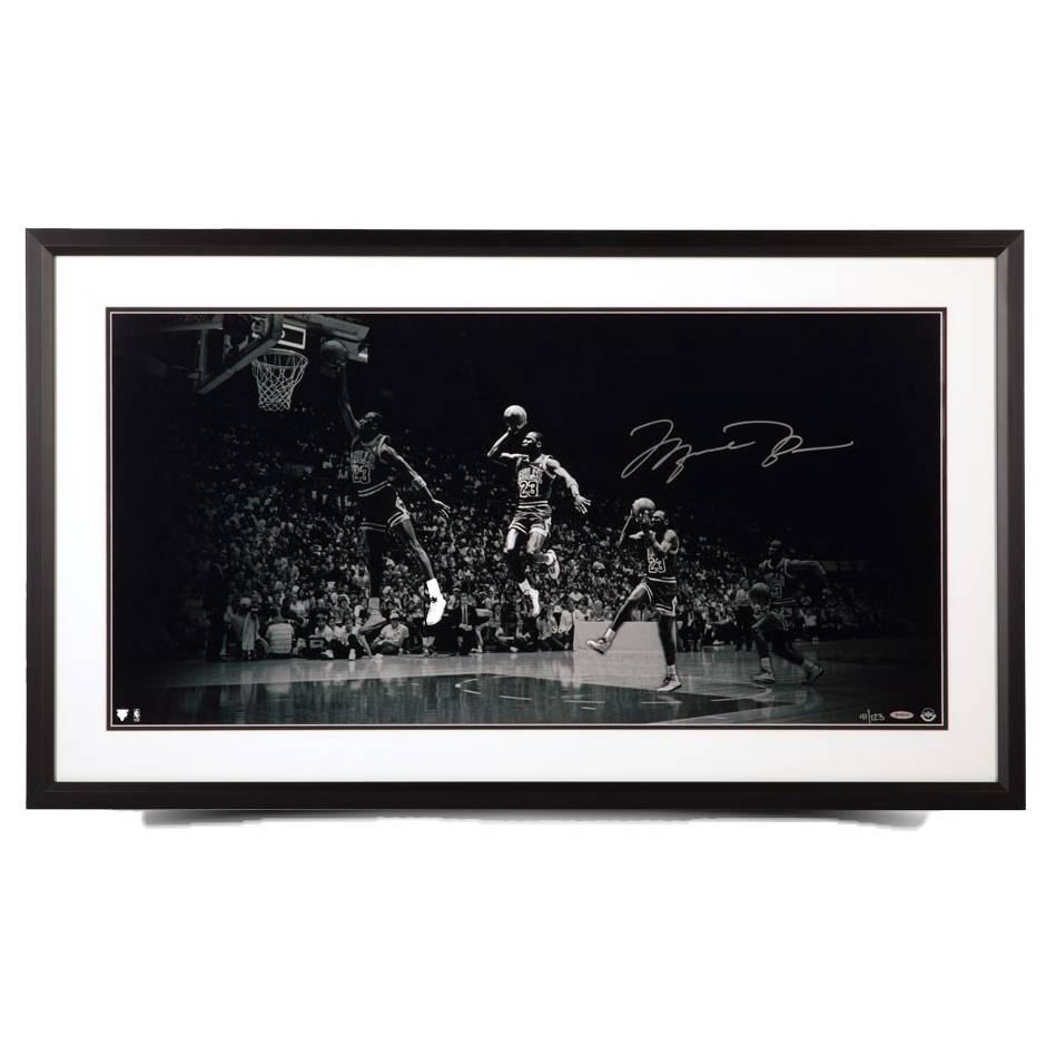 mainMichael Jordan Signed 'We Have Liftoff' Framed Print0