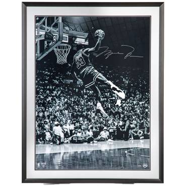 Michael Jordan Signed 'Frozen in Time' Framed Print