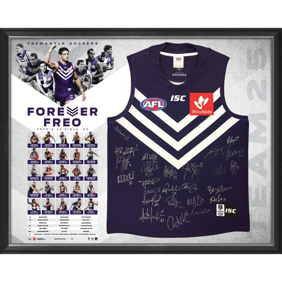 mainFremantle Football Club 25 Year Team Signed 'Forever Freo'0