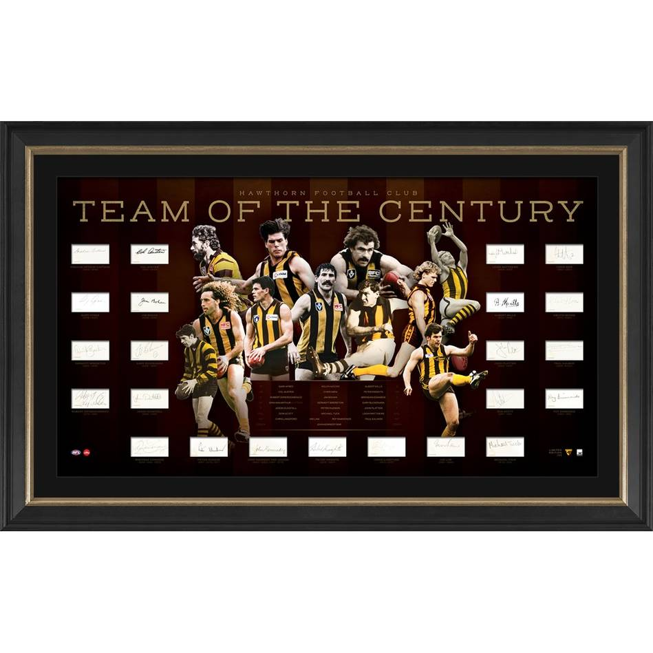 mainHawthorn Football Club Team of the Century Signed Lithograph0