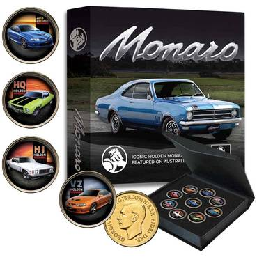 Holden Monaro Gold-plated Penny 9-Coin Collection