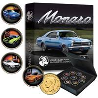 Holden Monaro Gold-plated Penny 9-Coin Collection0