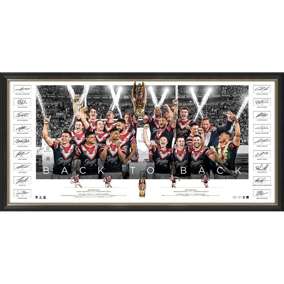 mainSydney Roosters 2019 NRL Premiers Team Signed Icons Series0