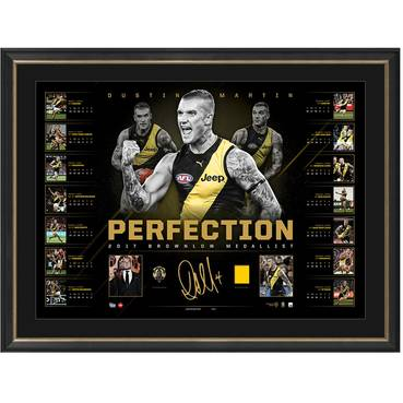 DUSTIN MARTIN BROWNLOW SIGNED 'PERFECTION'