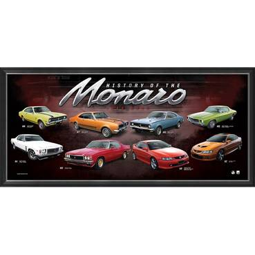 Holden 'History of the Monaro' Framed Print