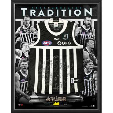 Port Adelaide 2020 Showdown Team Signed Prison Bars Guernsey