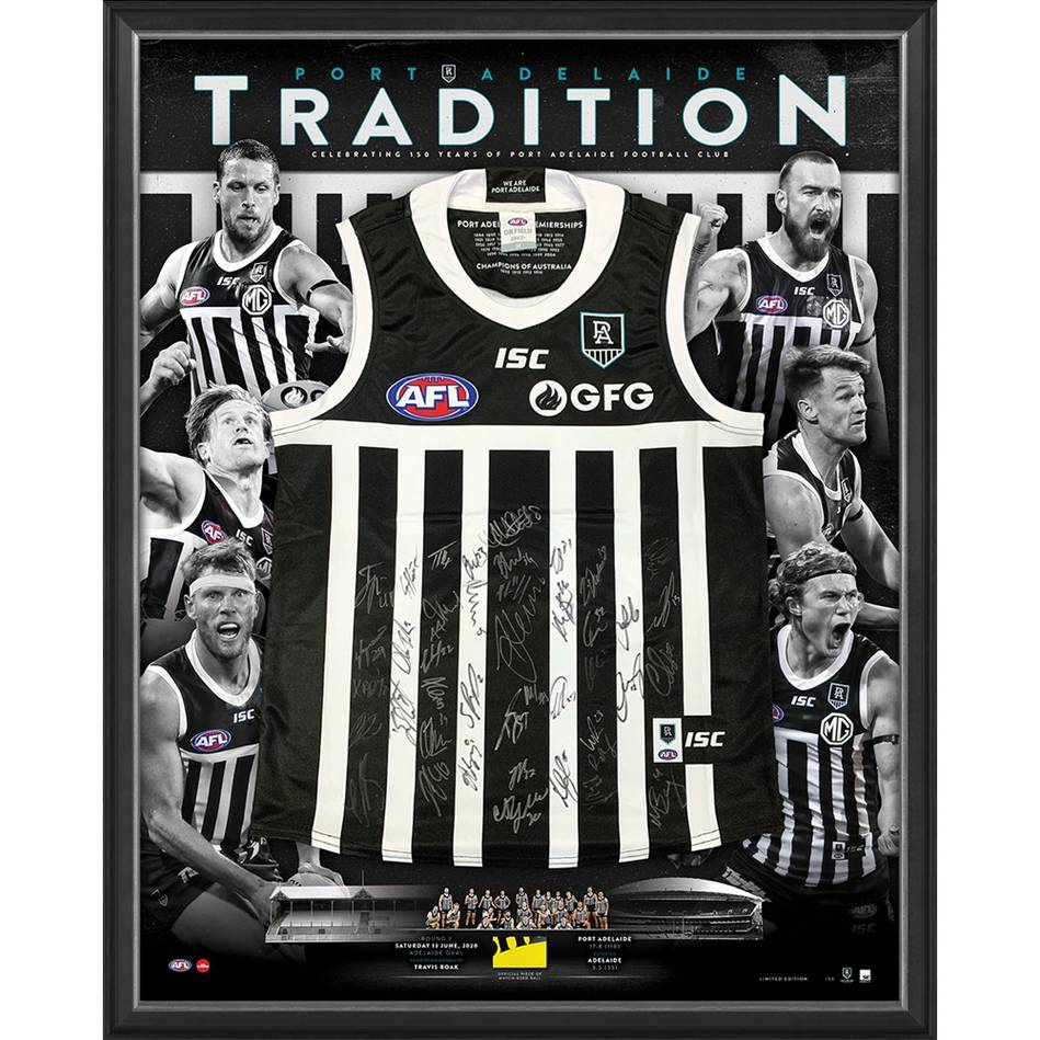 mainPort Adelaide 2020 Showdown Team Signed Prison Bars Guernsey0