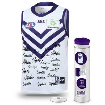 Fremantle Football Club 2020 Team Signed Guernsey