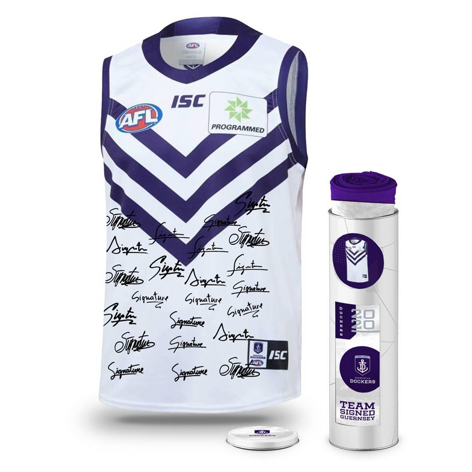 mainFremantle Football Club 2020 Team Signed Guernsey0