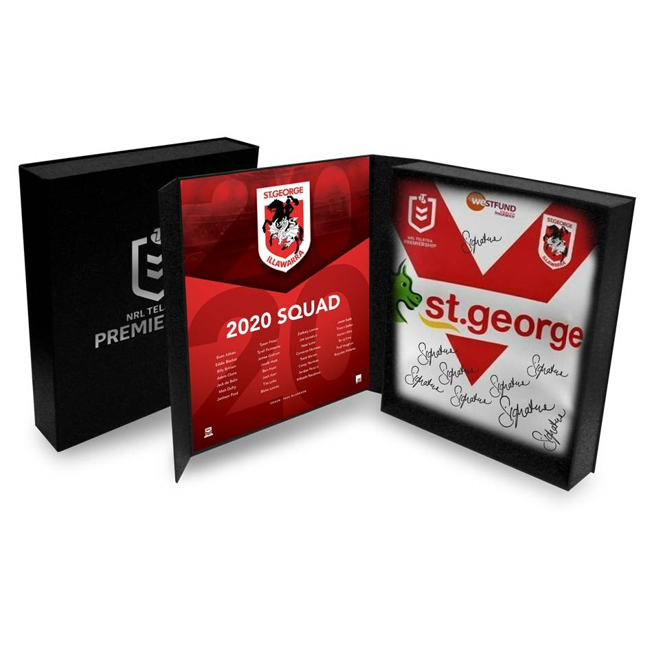 mainSt George Illawarra Dragons 2020 Squad Signed Jersey0