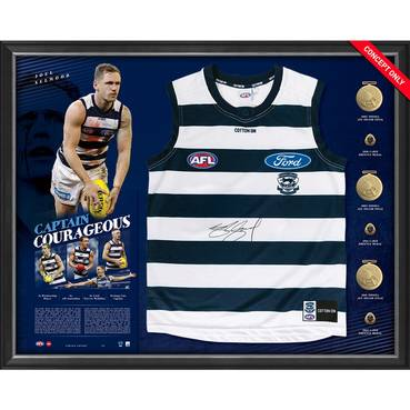 Joel Selwood Signed Captain Courageous Guernsey Display