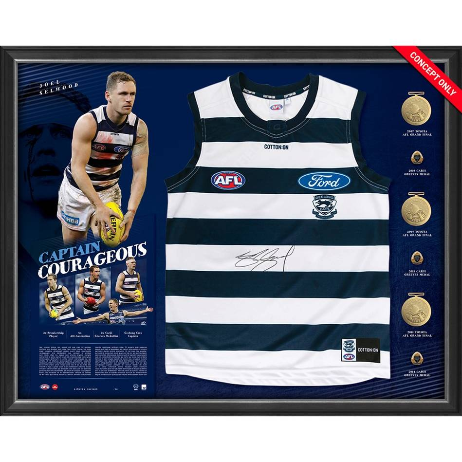 mainJoel Selwood Signed Captain Courageous Guernsey Display0