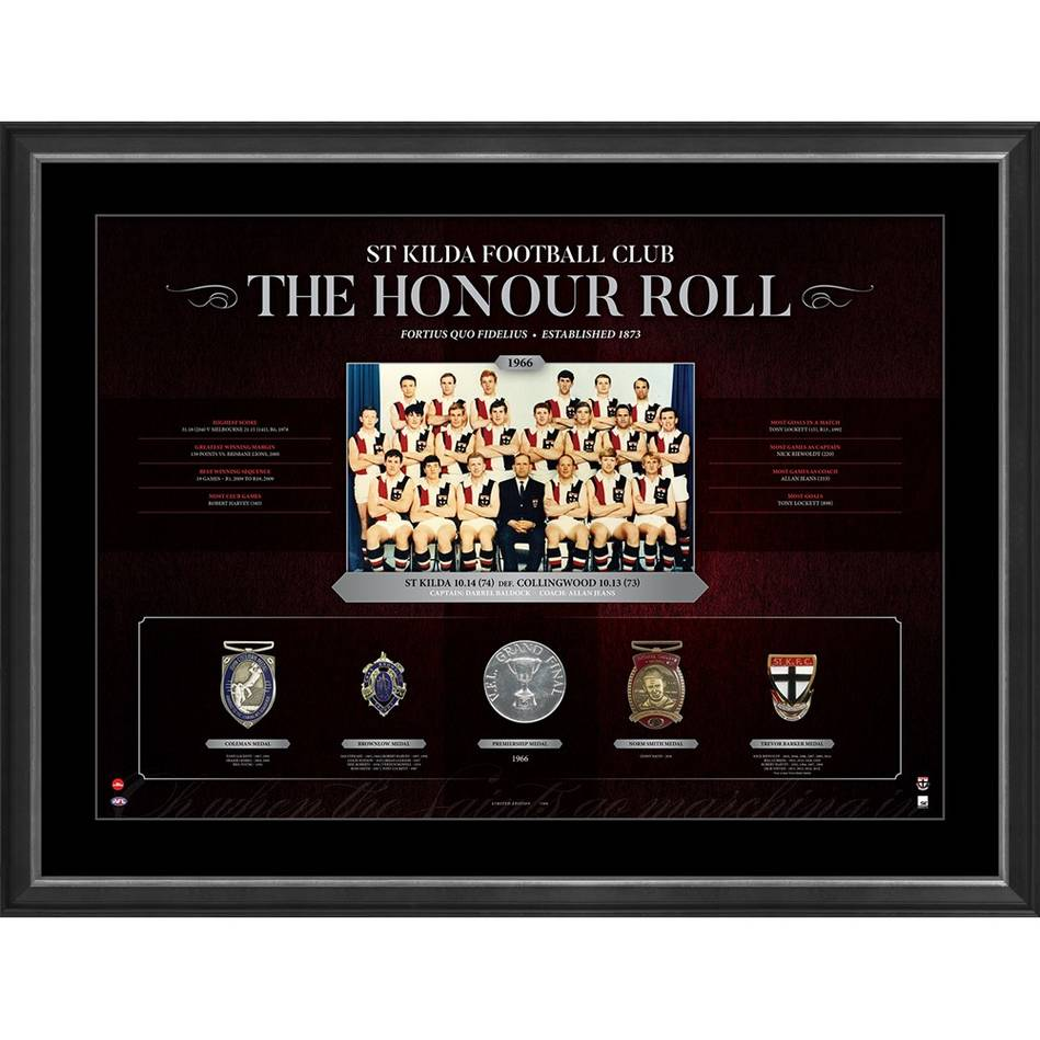 ST KILDA FOOTBALL CLUB 'THE HONOUR ROLL'0
