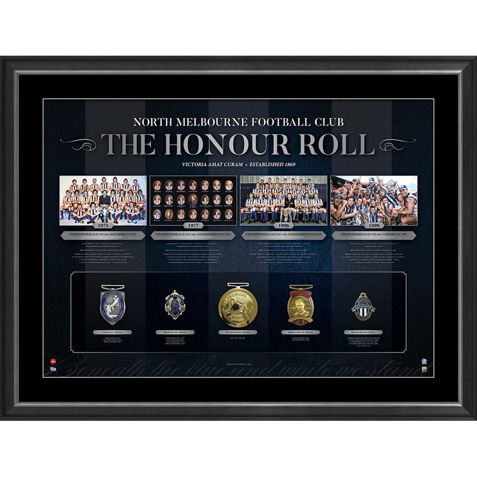 mainNORTH MELBOURNE FOOTBALL CLUB THE HONOUR ROLL0