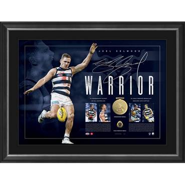 Joel Selwood Signed Warrior Lithograph