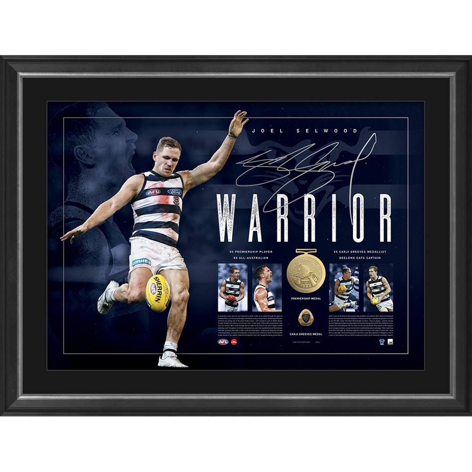 mainJoel Selwood Signed Warrior Lithograph0