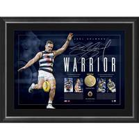 Joel Selwood Signed Warrior Lithograph0