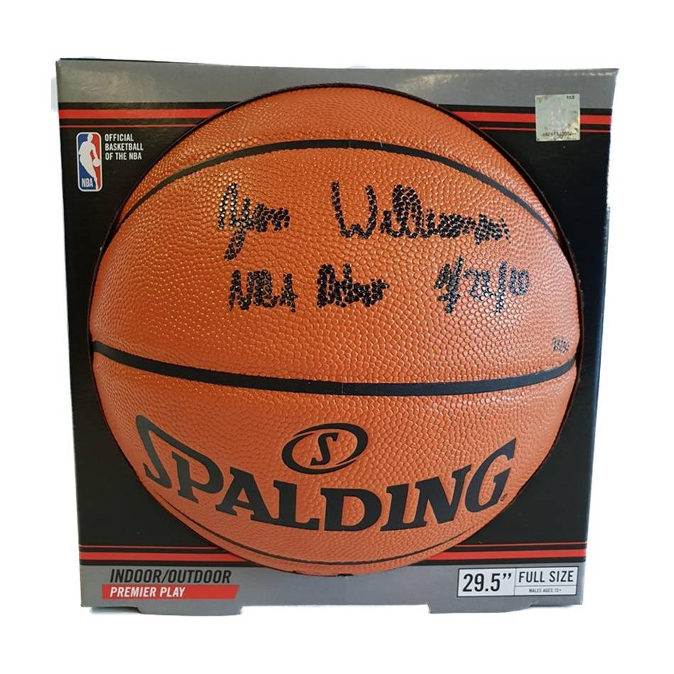 mainZion Williamson Signed & Inscribed Basketball0