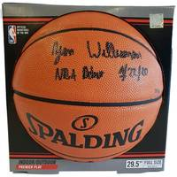 Zion Williamson Signed & Inscribed Basketball0