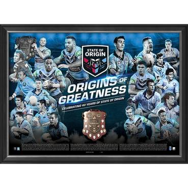 NSW Blues 'Origins of Greatness' Framed Print