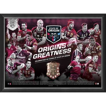 QLD Maroons 'Origins of Greatness' Framed Print