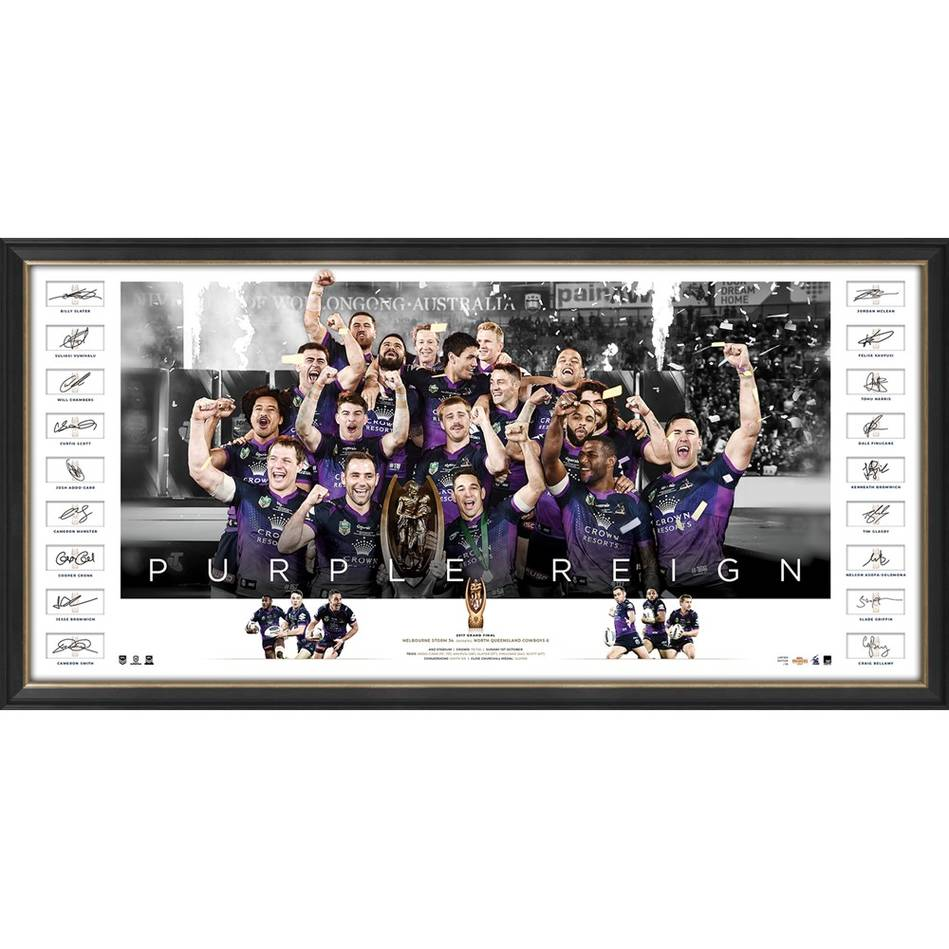 mainEDITION #1 - Melbourne Storm 2017 NRL Premiers Team Signed Icons Series0