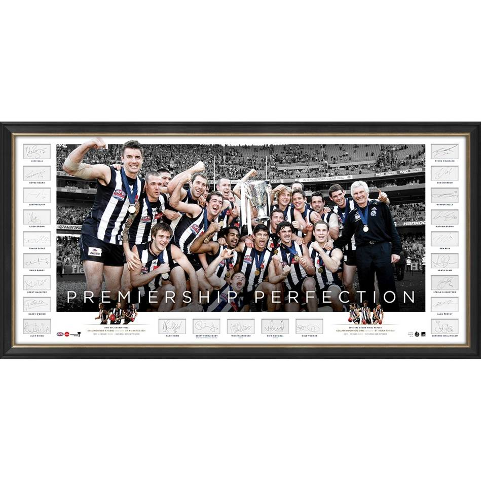 mainCollingwood 2010 AFL Premiers Team Signed Icons Series0