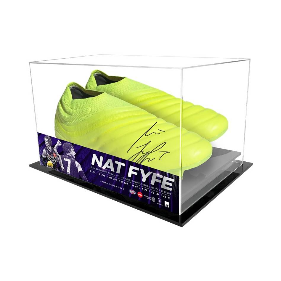 mainNat Fyfe Signed 2019 Match-Used Boots Display0