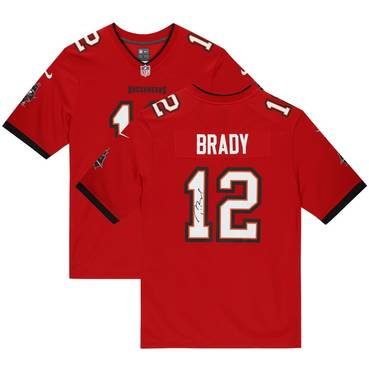 Tom Brady Tampa Bay Buccaneers Signed Red Nike Game Jersey