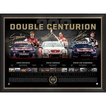 Lowndes, Whincup and Van Gisbergen Signed 'Double Centurion'
