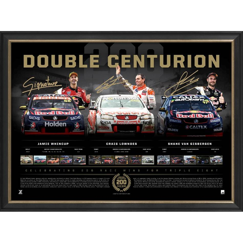 mainLowndes, Whincup and Van Gisbergen Signed 'Double Centurion'0