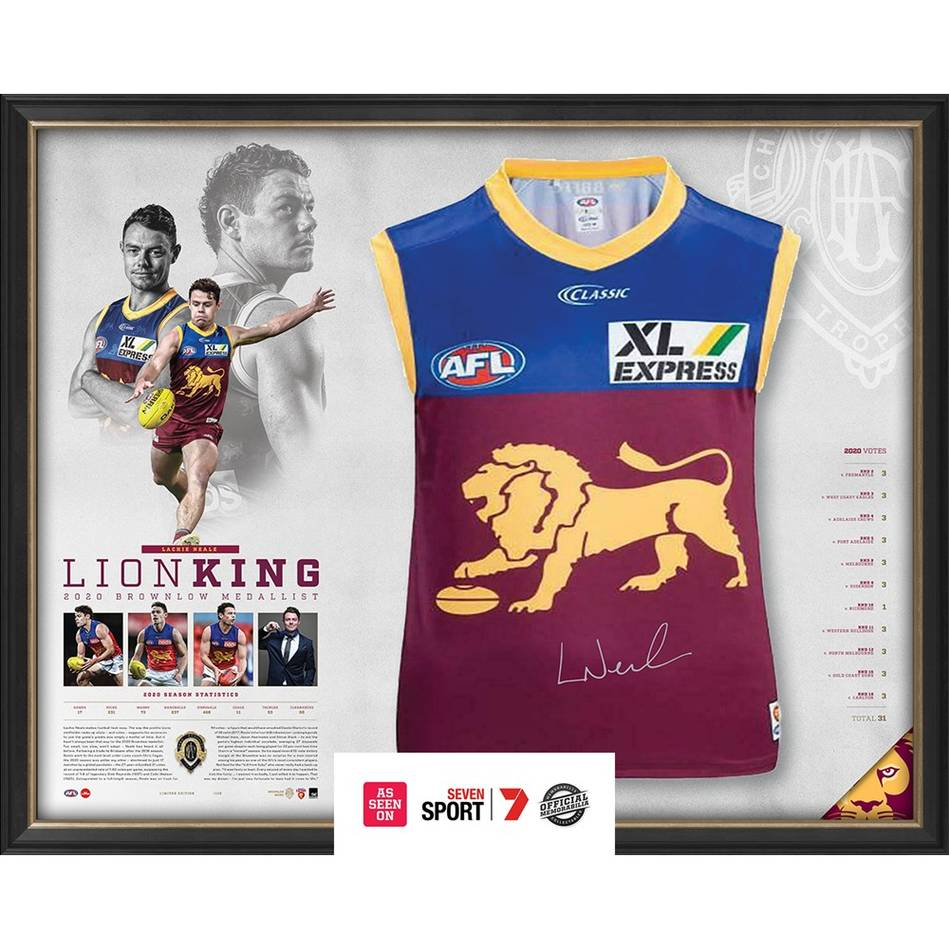 mainLachie Neale 2020 Signed Brownlow Medal Guernsey0