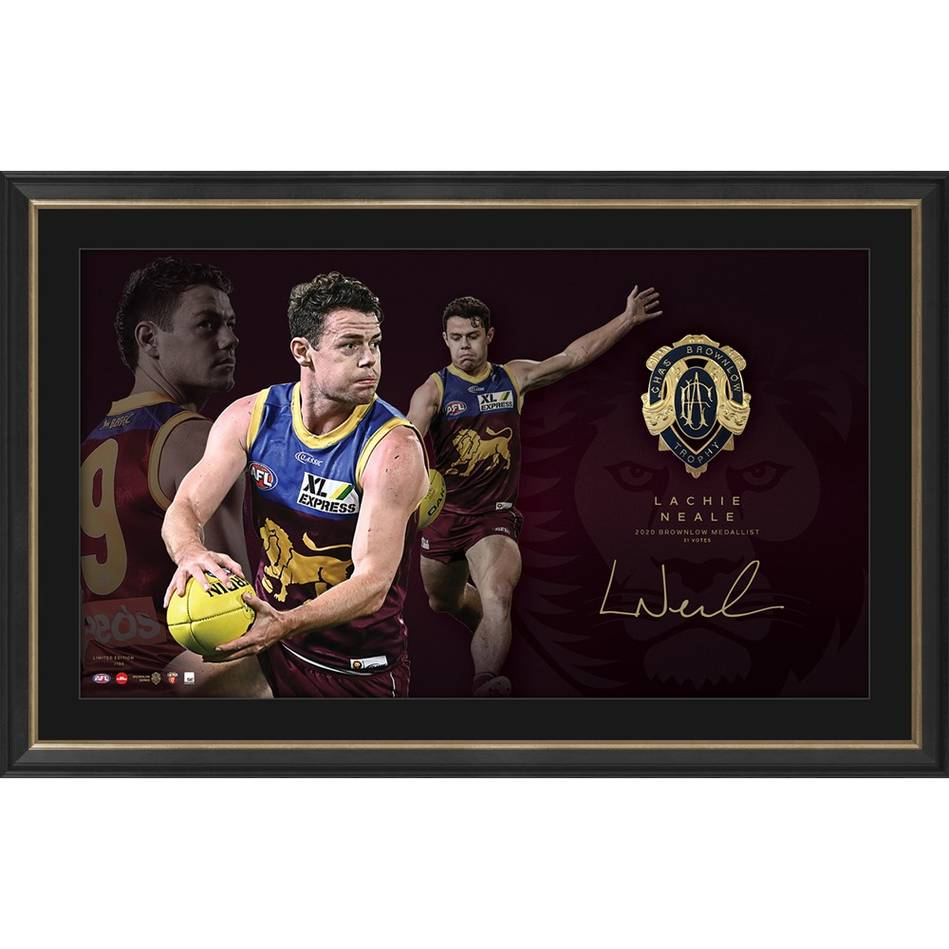 mainLachie Neale 2020 Signed Brownlow Medal Lithograph0