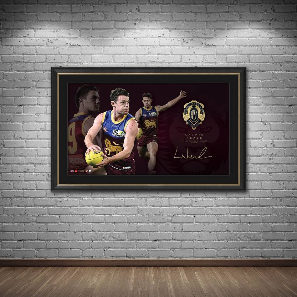 mainLachie Neale 2020 Signed Brownlow Medal Lithograph1