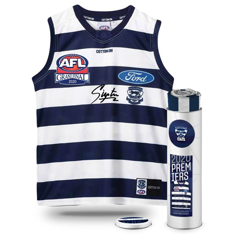 mainGryan Miers Signed 2020 Grand Final Match-Worn Guernsey0