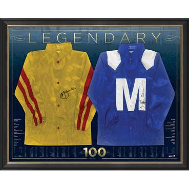 Cox Plate 100 Dual Signed Silks Display