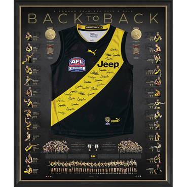 Richmond 2019/20 Back-to-Back Deluxe Signed Premiers Guernsey
