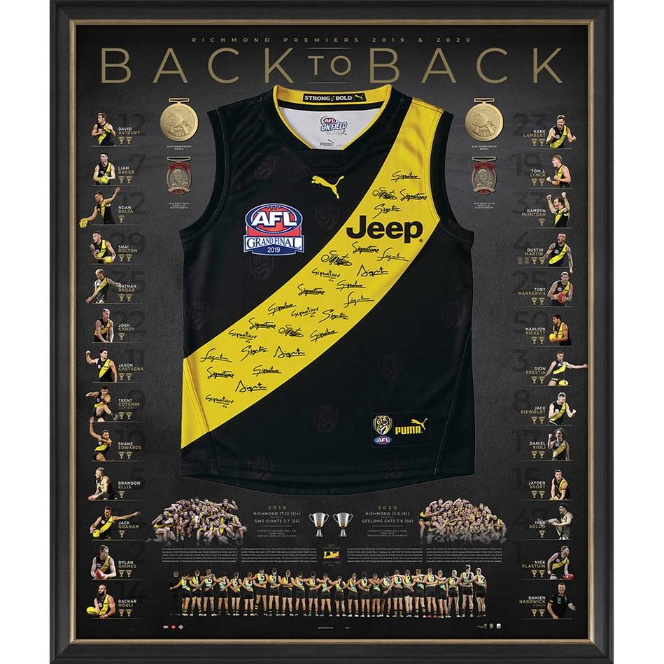 mainRichmond 2019/20 Back-to-Back Deluxe Signed Premiers Guernsey0