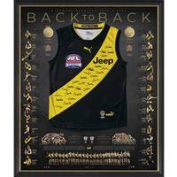Richmond 2019/20 Back-to-Back Deluxe Signed Premiers Guernsey0