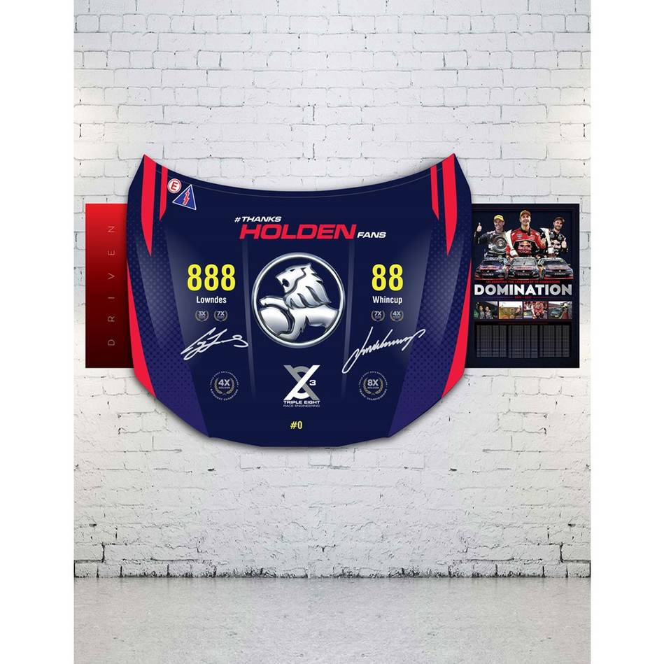 mainTriple Eight Dual Signed Holden VF Commodore Bonnet2