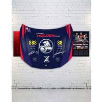 Triple Eight Dual Signed Holden VF Commodore Bonnet2