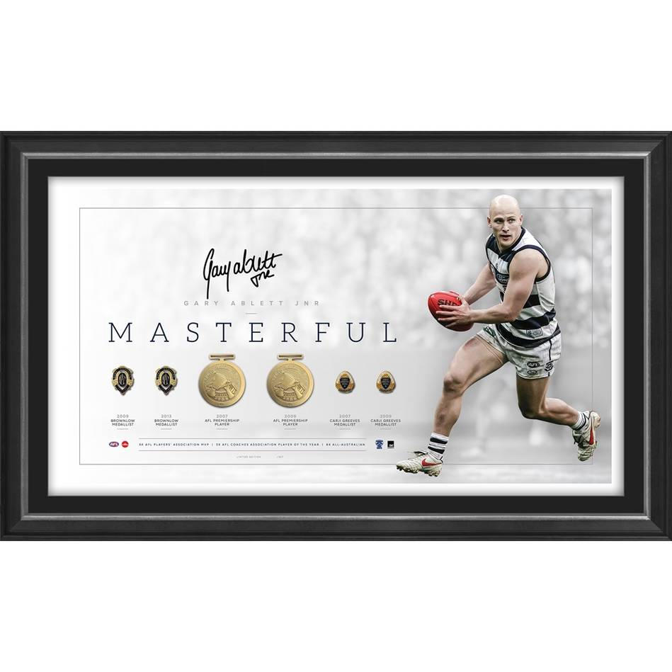 mainGary Ablett Jr Signed Career Retrospective Lithograph0